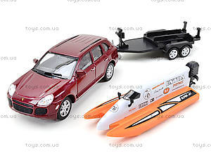 Игрушечный набор Porsche Cayenne Turbo и Power Boat, 39871F-2TB, toys.com.ua