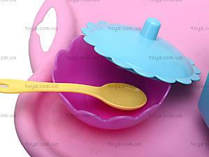 Игрушечный набор посуды на подносе, 22040, фото