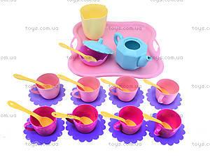 Игрушечный набор посуды на подносе, 22040, игрушки