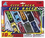 Игрушечный набор техники «CITI RACER» 10 элементов , 92753-10PS