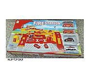 Игрушечный паркинг «Пожарный участок с машинками», 660-59, фото