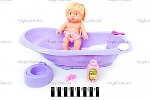 Игрушечный пупс в ванной, с аксессуарами, 9012