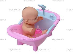 Игрушечный пупс в ванной с игрушками, 2828, отзывы