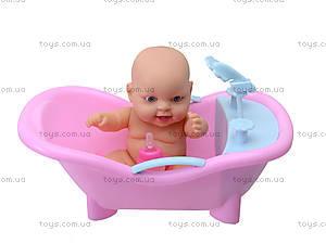 Игрушечный пупс в ванной с игрушками, 2828, игрушки