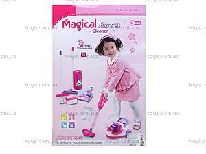 Набор для уборки с игрушечным пылесосом, 5955, фото