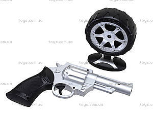 Игрушечный пистолет с дартсом, 168-3, фото