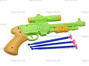 Игрушечный пистолет с присосками, 1138, детские игрушки