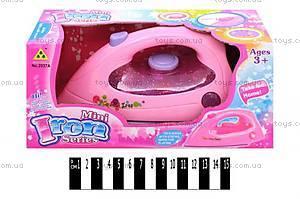 Игрушечный розовый утюг для девочки, 2037A