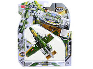Игрушечный  «Самолет-истребитель» трансформер металл, KY80306R-3