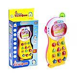 Игрушечный телефон «Умный телефон» жёлто-розовый, 7028, отзывы