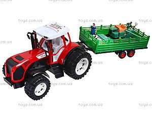 Игрушечный трактор с прицепом для детей, 0488-218, купить