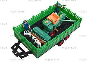Игрушечный трактор с прицепом для детей, 0488-218, фото