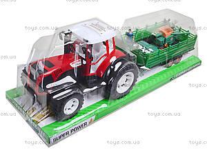 Игрушечный трактор с прицепом для детей, 0488-218, игрушки