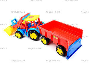Игрушечный трактор с прицепом «Гигант», 66300, купить