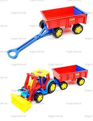 Игрушечный трактор с прицепом «Гигант», 66300