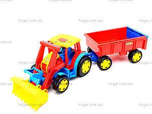 Игрушечный трактор с прицепом «Гигант», 66300, отзывы