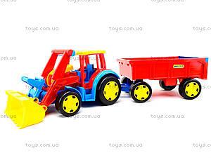 Игрушечный трактор с прицепом «Гигант», 66300, игрушки
