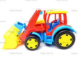 Игрушечный трактор с прицепом «Гигант», 66300, детские игрушки