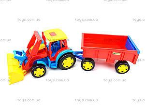 Игрушечный трактор с прицепом «Гигант», 66300, магазин игрушек