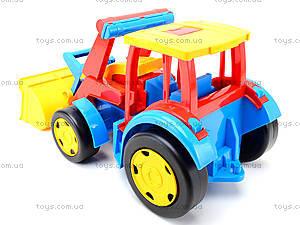 Игрушечный трактор с прицепом «Гигант», 66300, toys.com.ua