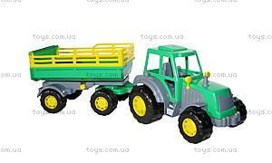 Игрушечный трактор с прицепом «Мастер», 35271