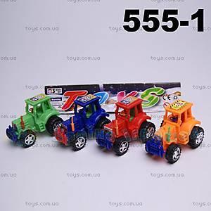 Игрушечный трактор инерционный, 555