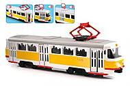 Игрушечный трамвай «Автопарк» с эффектами, 9708B, отзывы