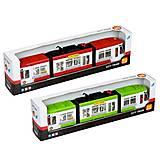 Игрушечный трамвай со световыми эффектами, 1258, toys