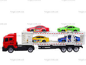 Игрушечный трейлер с автомобилями, 9060-24A, купить