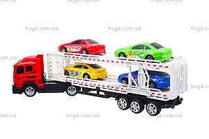 Игрушечный трейлер с автомобилями, 9060-24A, фото