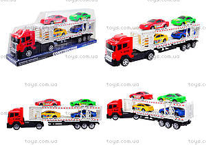 Игрушечный трейлер с автомобилями, 9060-24A