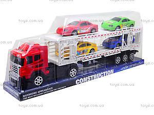 Игрушечный трейлер с автомобилями, 9060-24A, отзывы
