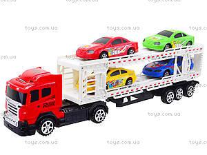 Игрушечный трейлер с автомобилями, 9060-24A, цена