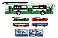 Игрушечный троллейбус «Автопарк Маршрут», 9690-A, фото