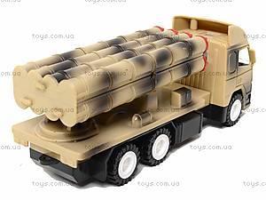 Игрушечный военный грузовик с ракетой, WD-003B04B, детский