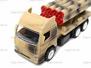 Игрушечный военный грузовик с ракетой, WD-003B04B, Украина