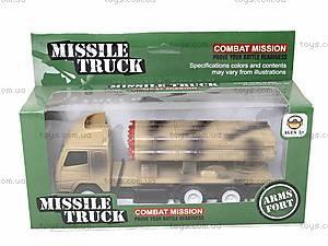 Игрушечный военный грузовик с ракетой, WD-003B04B, доставка