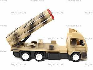 Игрушечный военный грузовик с ракетой, WD-003B04B, набор