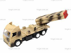 Игрушечный военный грузовик с ракетой, WD-003B04B, купити