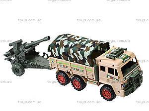 Игрушечный инерционный грузовик с военной техникой, 6107, купить