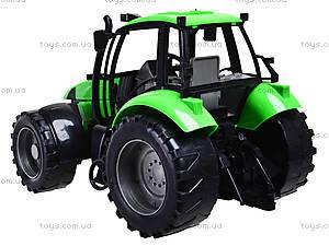 Игрушечный инерционный трактор, для детей, 7089B, фото