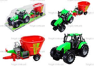 Игрушечный инерционный трактор, для детей, 7089B