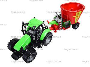 Игрушечный инерционный трактор, для детей, 7089B, игрушки
