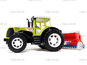 Игрушечный инерционный трактор «Фермер», 0488-206