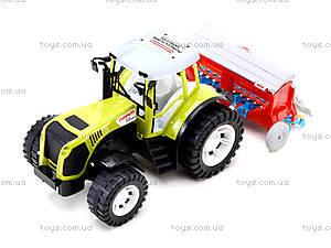 Игрушечный инерционный трактор «Фермер», 0488-206, фото
