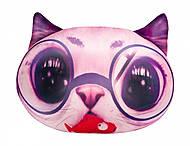 Игрушка антистресс SOFT TOYS «Кот глазастик», розовый, DT-ST-01-03