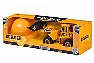 Игрушка Builder трактор + каска (R1808Ut), R1808Ut