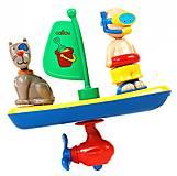 Игрушка для купания «Парусник» Caillou, 400-CA-124, фото