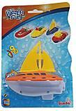 Игрушка для ванной «Кораблик» оранжевый, 729 4243-3