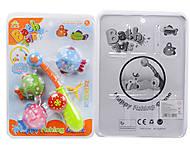 Удочка с рыбками, игрушка для ванной, SL87001B, игрушки